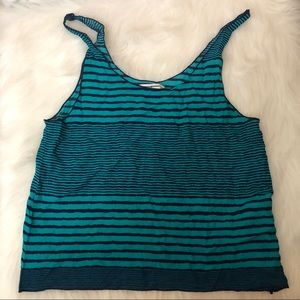 American Eagle Outfitters Womens Stripe Tank Sz S